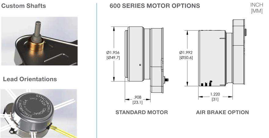 Synchron A & D Mount Motor Options