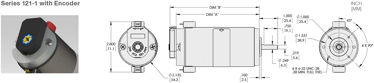 Series 121-1 - 2.1 inch DC Motor Standard Options