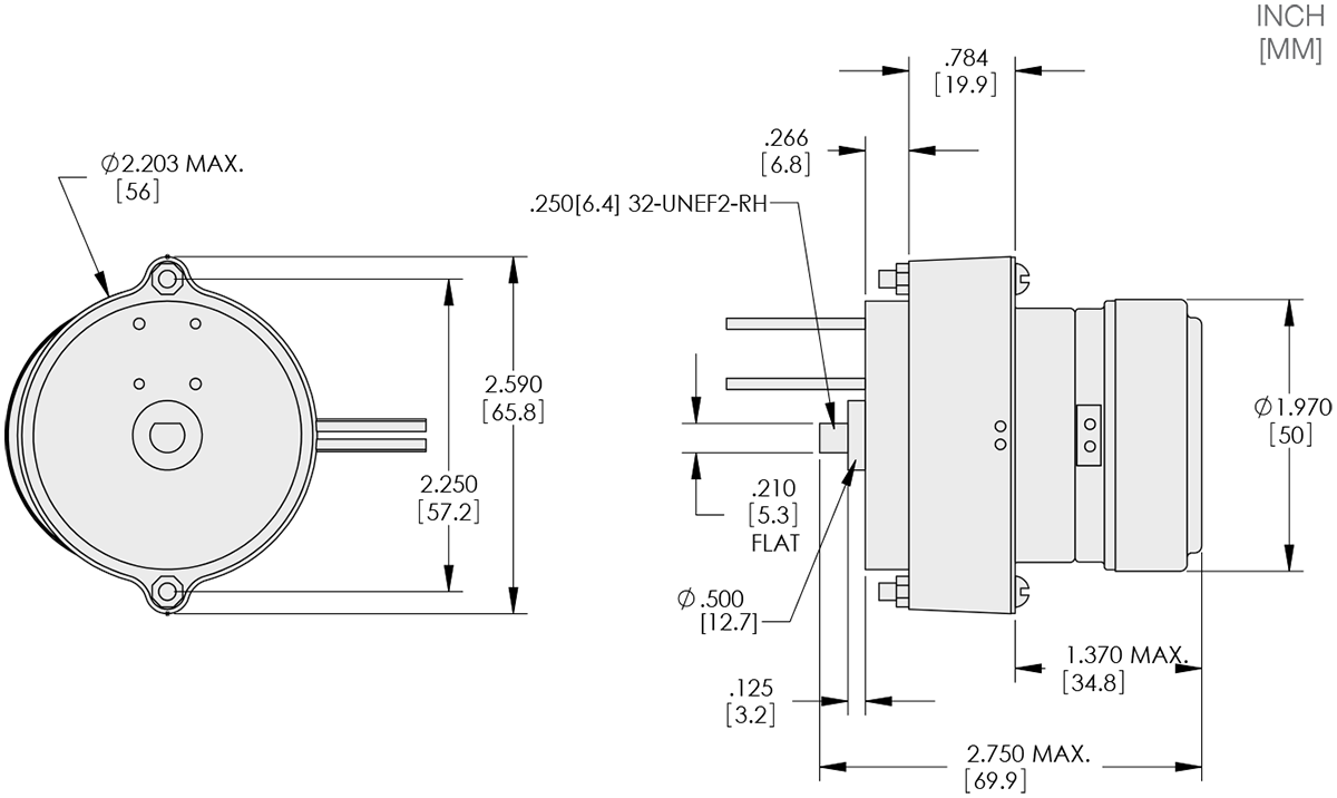 Motorized Slip Ring Technical Drawings