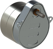 Series 119-2 Size 19 Geared Step Motor pear shaped gearbox